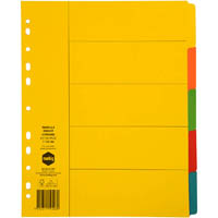 MARBIG EXTRA WIDE DIVIDER MANILLA 5-TAB A4 BRIGHT ASSORTED