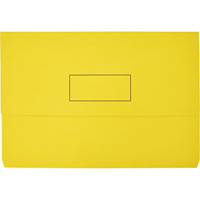 MARBIG SLIMPICK DOCUMENT WALLET FOOLSCAP YELLOW