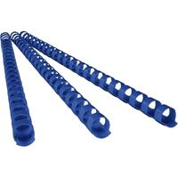 REXEL PLASTIC BINDING COMB ROUND 21 LOOP 8MM A4 BLUE BOX 100