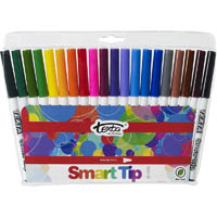 TEXTA SMARTTIP COLOURING MARKERS ASSORTED WALLET 20