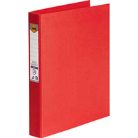 MARBIG RING BINDER PE 25MM 4D A4 RED