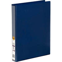 MARBIG CLEAR VIEW INSERT RING BINDER 3D 25MM A4 BLUE