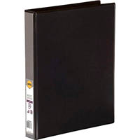MARBIG CLEAR VIEW INSERT RING BINDER 3D 25MM A4 BLACK