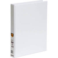 MARBIG CLEAR VIEW INSERT RING BINDER 3D 25MM A4 WHITE