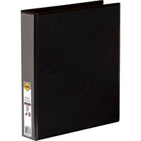 MARBIG CLEAR VIEW INSERT RING BINDER 2D 38MM A4 BLACK