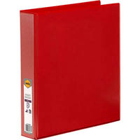 MARBIG CLEAR VIEW INSERT RING BINDER 3D 38MM A4 RED