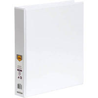 MARBIG CLEAR VIEW INSERT RING BINDER 3D 38MM A4 WHITE