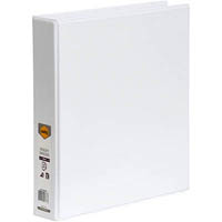 MARBIG CLEAR VIEW INSERT RING BINDER 4D 38MM A4 WHITE