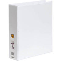 MARBIG CLEAR VIEW INSERT RING BINDER 2D 50MM A4 WHITE