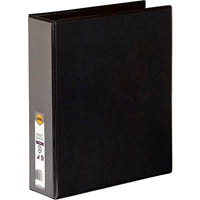 MARBIG CLEAR VIEW INSERT RING BINDER 3D 50MM A4 BLACK