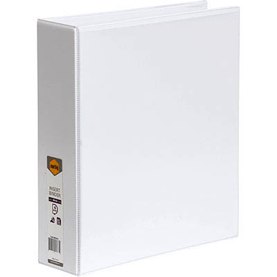 Marbig Clear View Insert Ring Binder 4D 50Mm A4 White