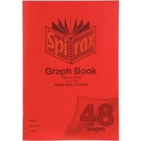 SPIRAX P130 GRAPH BOOK 10MM GRID 48 PAGE A4 RED