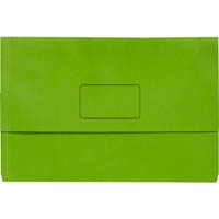 INITIATIVE DOCUMENT WALLET 345 X 225MM GREEN PACK 50