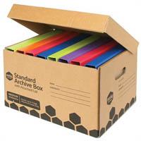MARBIG ENVIRO ARCHIVE BOX ATTACHED LID 420 X 315 X 260MM