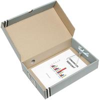 MARBIG BOX FILE A4 44MM GREY