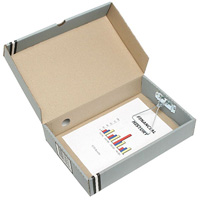 MARBIG BOX FILE A4 80MM GREY