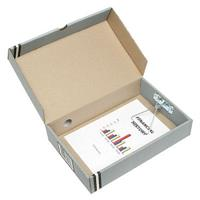 MARBIG BOX FILE FOOLSCAP 80MM GREY