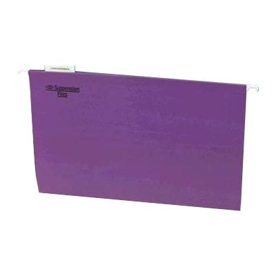 Image for MARBIG SUSPENSION FILES PURPLE BOX 50 from Paul John Office National