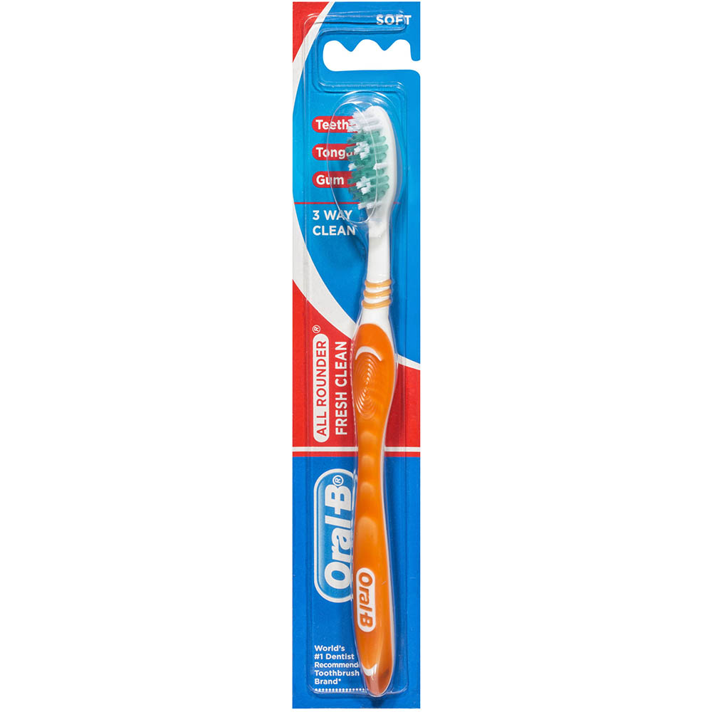 Image for ORAL B ALL ROUNDER FRESH CLEAN TOOTHBRUSH SOFT from Our Town & Country Office National
