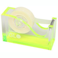 COLOURHIDE GLO MY GLOWING ACYLIC TAPE DISPENSER YELLOW