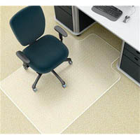 MARBIG CHAIRMAT PVC KEYHOLE MEDIUM PILE CARPET 910 X 1210MM