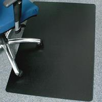 MARBIG CHAIRMAT POLYPROPYLENE RECTANGULAR 900 X 1200MM BLACK