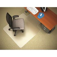 MARBIG CHAIRMAT PVC KEYHOLE CARPET 1160 X 1520MM