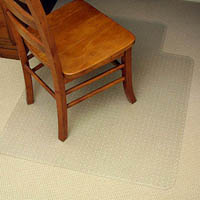 MARBIG CHAIRMAT PVC KEYHOLE LOW PILE CARPET 910 X 1210MM