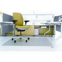 MARBIG CHAIRMAT PET HARD FLOOR RECTANGULAR 910 X 1210MM