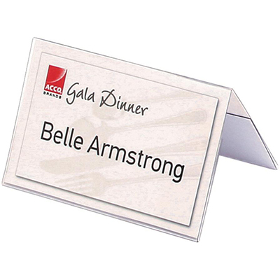 REXEL NAME PLATES SMALL 92 X 56MM PACK 50