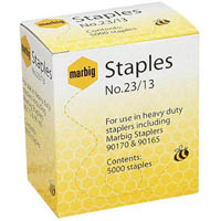 MARBIG STAPLES HEAVY DUTY 23/13 BOX 5000