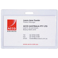 REXEL ID POUCHES SELF SEAL LANDSCAPE PACK 10