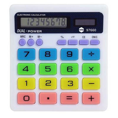 Image for MARBIG CALCULATOR DESK TOP COLOURED 8 DIGIT DISPLAY from Pirie Office National