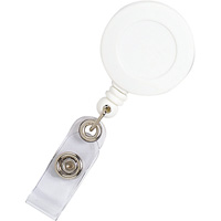 REXEL RETRACTABLE ID CARD HOLDER WITH STRAP WHITE