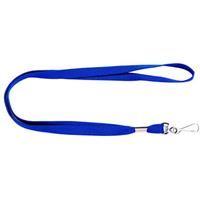 REXEL LANYARD FLAT WITH SWIVEL CLIP BLUE PACK 10
