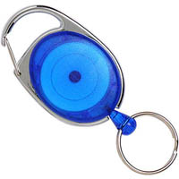 REXEL RETRACTABLE KEY HOLDER SNAP LOCK BLUE