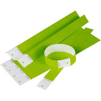 REXEL WRISTBANDS GREEN PACK 10