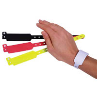 REXEL WRISTBANDS FLUORO ASSORTED COLOURS PACK 10