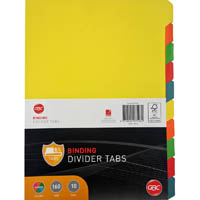 GBC TAB UNPUNCHED DIVIDERS 10-TAB A4 COLOUR