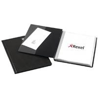 REXEL SLIMVIEW DISPLAY BOOK 24 POCKET A4 BLACK