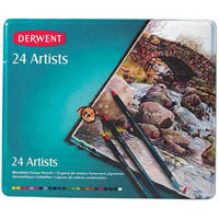 DERWENT ARTIST PENCILS 4MM TIN 24