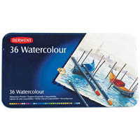 DERWENT WATERCOLOUR PENCILS 3.5MM TIN 36