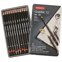 DERWENT GRAPHIC SKETCHING SET TIN 12