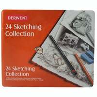 DERWENT SKETCHING MIXED MEDIA TIN 24