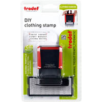 TRODAT 4911 ECO PRINTY SELF-INKING STAMP 38 X 14MM CLOTHING STAMP