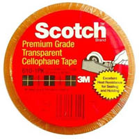 SCOTCH 610 TRANSPARENT TAPE 12MM X 33M PACK 12