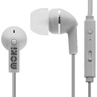 MOKI NOISE ISOLATION EARBUDS WITH MICROPHONE AND CONTROL WHITE