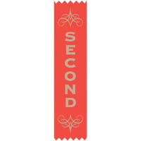 AVERY 69630 MERIT RIBBONS SATIN 2ND PLACE RED PACK 100