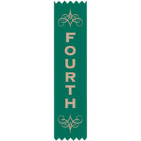 AVERY 69632 MERIT RIBBONS SATIN 4TH PLACE GREEN PACK 100