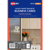 AVERY 71019 LJ37 MAGNETIC BUSINESS CARDS PACK 100